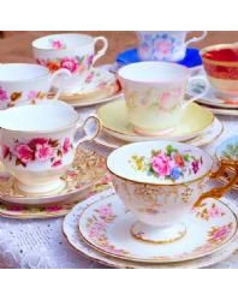30 MISMATCHED TEA TRIOS